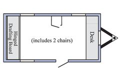 19x8 office trailer floorplan