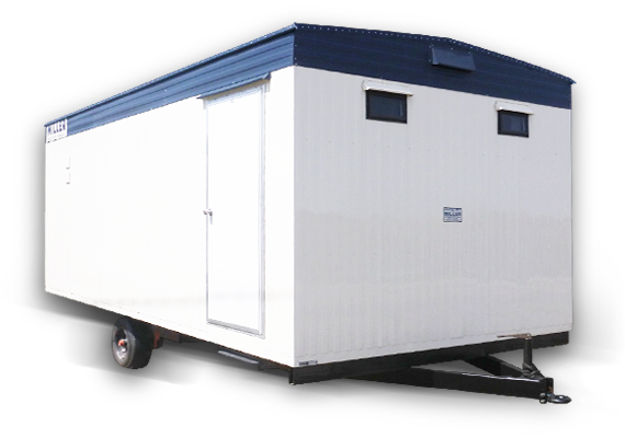 Mobile office space washroom trailers